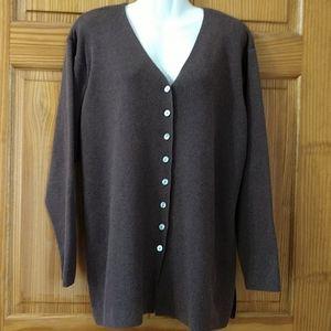 Talbot's v-neck cardigan. Size L